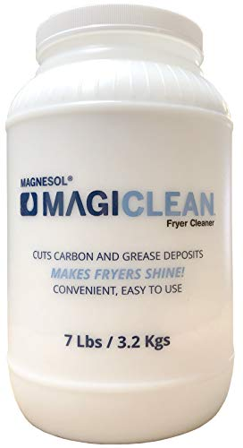 Magiclean Fryer Cleaner by Magnesol, Non-Foaming Fryer Cleaning Powder, Fryer Boil Out Powder to Remove Carbon & Grease Deposits in Deep Fryers, Makes Fryers Shine, 1 Gal Jar