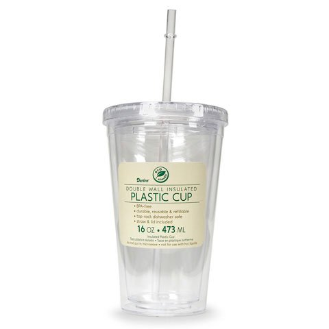 Better Crafts CUP PLASTIC 2LAYER ASST 16OZ (24 pack) (08601-800)