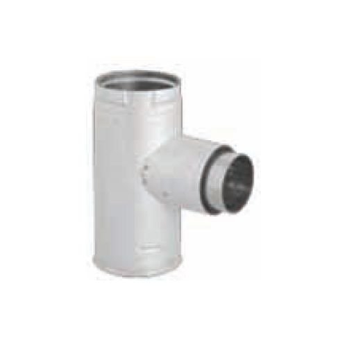 M G Duravent 3PVP-TADX4B Dura-Vent PelletVent Pro black 4 Inch tee adaptor with increaser and 3 Inch (Ulcs Adapter)