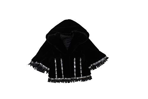 (Bergama 716174 New Black Sheared Mink Fur Parka Hood Jacket Coat Stroller 10)