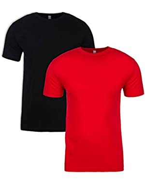 N6210 T-Shirt, Black + Red (2 Pack), X-Small