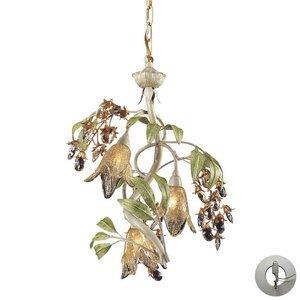 ELK 86051-LA, Huarco Blown Glass 2 Tier Chandelier Lighting, 3 Light Halogen, (Huarco Seashell Chandelier Elk Lighting)
