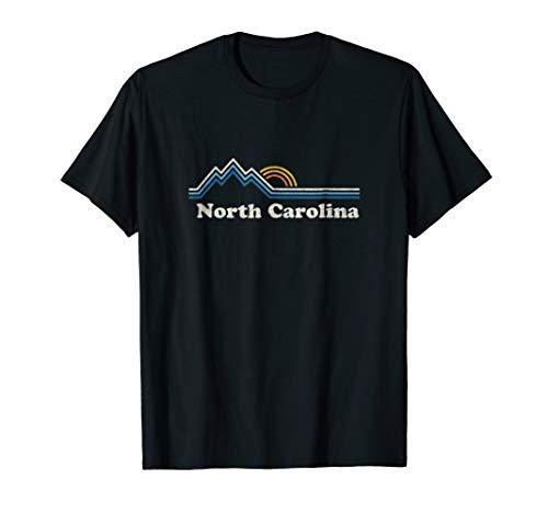 Retro North Carolina NC T Shirt Vintage Mountains Tee