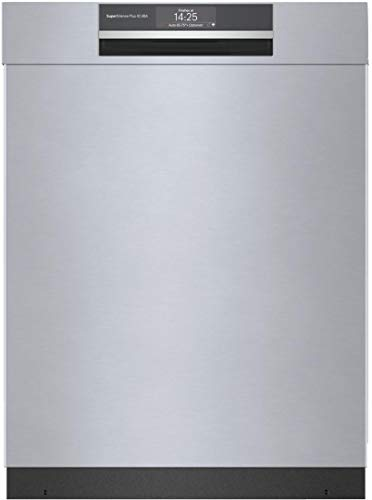 Bosch SHEM78ZH5N 24″ 800 Series Smart Built-in Recessed Handle Dishwasher with 16 Place Settings, Flexible 3rd Rack, Home Connect and 42 dBA in Stainless Steel