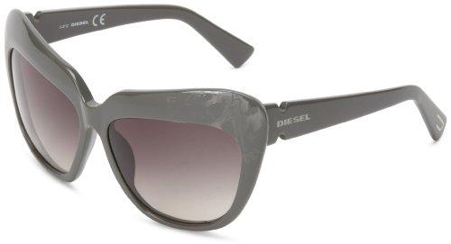 Diesel DL00475993A Cat-Eye Sunglasses,Olive,59 - Eye Green Cat