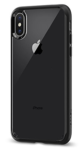 Price comparison product image Spigen Ultra Hybrid iPhone X Case with Air Cushion Technology and Hybrid Drop Protection for Apple iPhone X (2017) - Matte Black