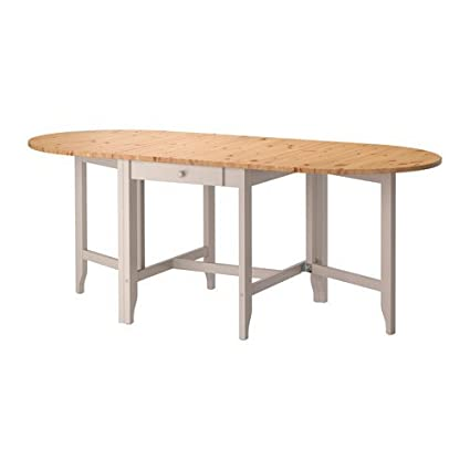 Captivating Ikea Gateleg Table, Light Antique Stain, Gray 1426.14232.1030