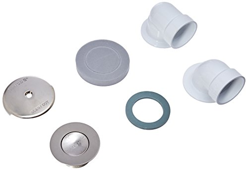 Watco 601-PF-PVC-BN Presflo Half Kit, Brushed Nickel (Bathtub Drain Half Kit)