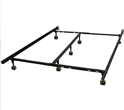 Modern Hercules Universal Heavy-Duty Adjustable Metal Bed Frame Platform