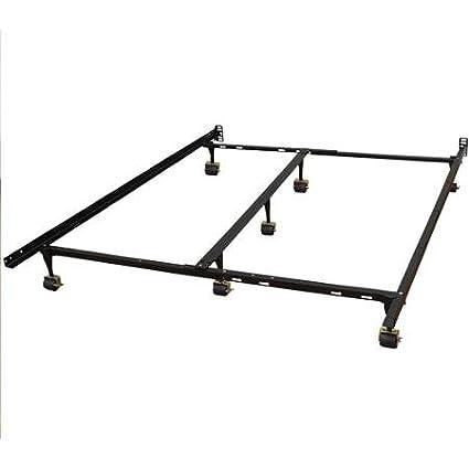 Amazon.com: Hercules Universal Heavy Duty Adjustable Metal Bed Frame ...