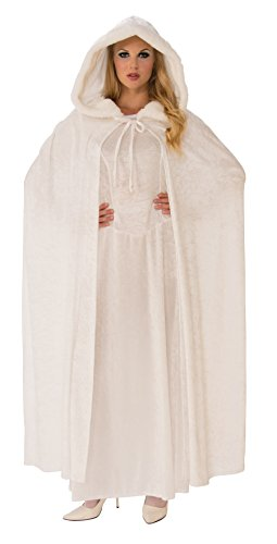 Rubie's Wintry White Cape (White Hooded Cloak)