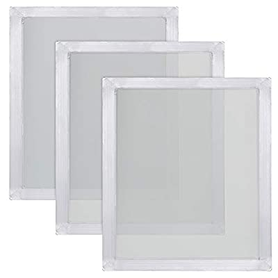 Caydo 3 Pieces 20 x 24 Inch Aluminum Silk Screen Printing Frames with 160 White Mesh for Screen Printing