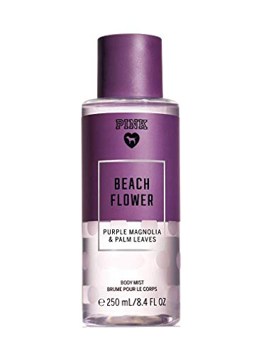 Victorias Secret Pink Collection Beach Flower 8.4 Ounce Body Mist Purple Magnolia and Palm Leaves