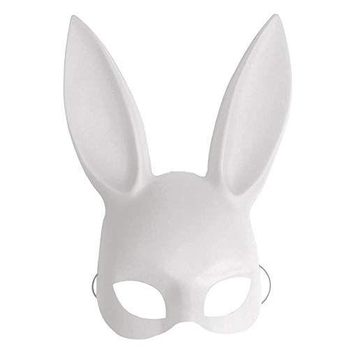 (Party Masks - Fashion Pvc Women Girl Party Cosplay Rabbit Ears Mask Sexy Long Carnival Halloween - Horror Clown Trump Adult Carnival Loftus Sexy Movie Face Mask Halloween White Alien)
