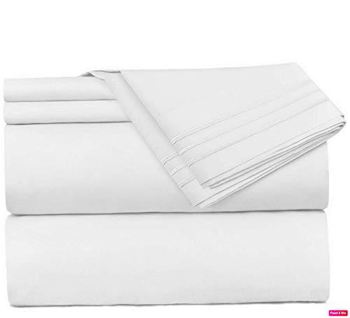 Mikash 4 Piece Sheet Set - 1800 Deep Pocket Bed Sheet Set - Hotel Luxury Double Brushed Microfiber Sheets - Deep Pocket Fitted Sheet, Flat Sheet, Pillow Cases, Queen - White   Model SHTST - 203 Cowboys Bed Sheet Set
