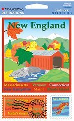 New England Cardstock Scrapbook Stickers (31372)