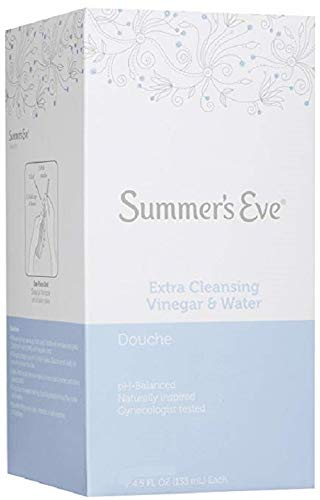 Water Vinegar - Summer's Eve Douche, Extra Cleansing Vinegar and Water, 4-Units, 4.5 Ounce Each (2-Pack)
