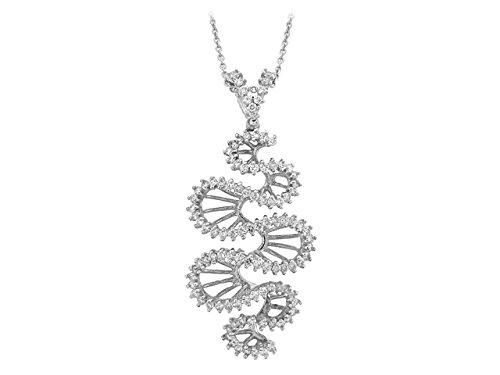 Birgie Diamants et Bijoux - Pendentif Diamants-Femme- or Blanc 201P0049