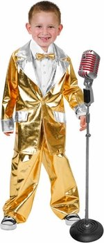 Fun Plus Boys Elvis Gold Lame Halloween Costume