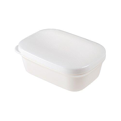 Plastic Soap Box White Seal Waterproof Travel Portable Soap Dish Plastic Container Soap Protectors Wooden Soap Holder Soap Case Bathroom Travel Home (Rectangle Shape)