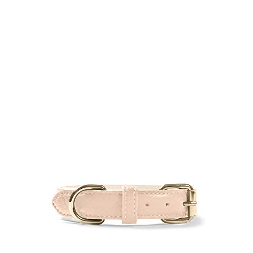 - Small Pet Collar - Full Grain Leather Leather - Rose (Pink)