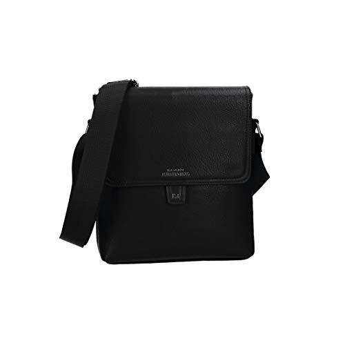 bag shoulder bandolier men's with flap EGON VF715 Black bag FURSTENBERG qOtf4nwS