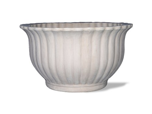 Amedeo Design ResinStone 2509-76L Fluted Bowl Planter, 34 by 34 by 19-Inch, ()