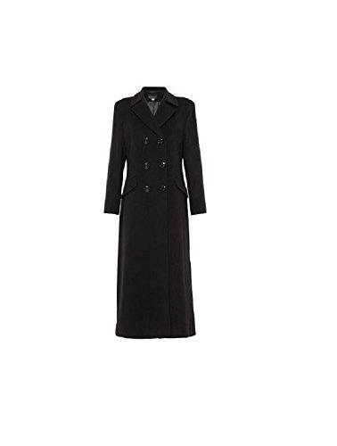 Long Noir Cashmere Volante Manteau Laine Femme Crois qf1XOf