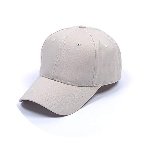 野球帽ソリッドカラー通気性日焼け止めキャップオープンカスタマイズ,米色,標準なし