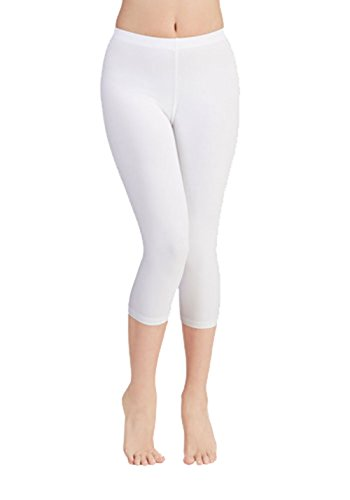 White Cotton Capris - 7