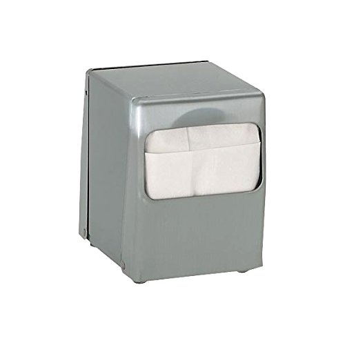 (Tabletop Low Fold Steel Napkin Dispenser - 2 sided)