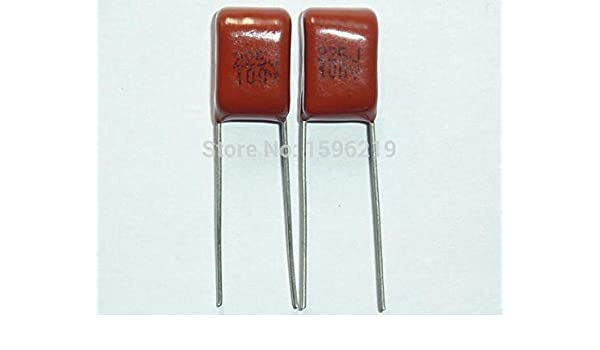 10PCS CL21 225J 100V 2.2UF 2200NF P7.5 Metallized Film Capacitor