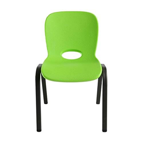 Lifetime 80473 Kids Stacking Chair (4 Pack), Lime (Outdoor Stacking Table)