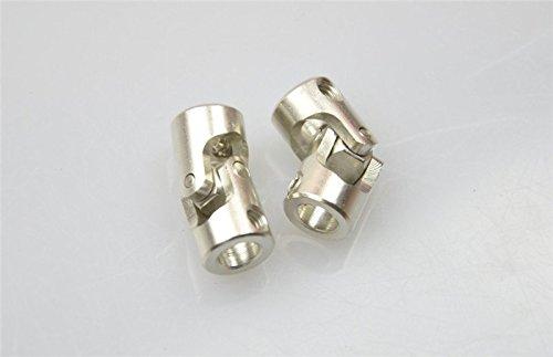 xunji ajie 2pcs 6 x 6 mm metal flexible hembra onda hembra Mini articulado de cardá n de á ngulo de acoplamiento for RC Barco XUNJIAJIE