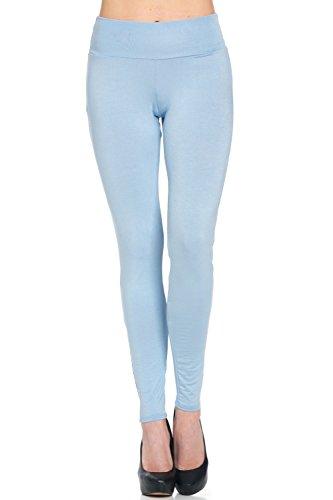 Frumos Womens Activewear Leggings Full Ankle Length Yoga Pants Leggings Blue Sky Small