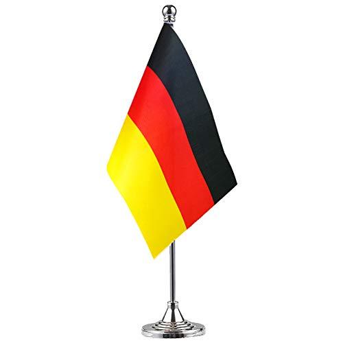 GentleGirl Germany Flag German Flag Table Flag,Desk Flag,Office Flag,International World Country Flags Banners,Festival Events Celebration,Office Decoration,Desk,Home Decoration