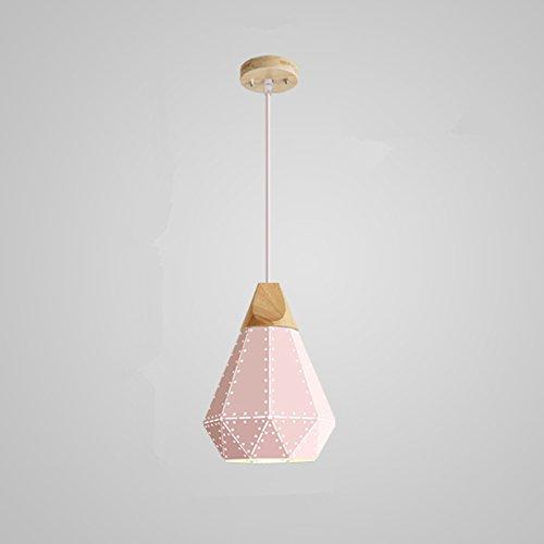 Pink Metal Pendant Light - 3