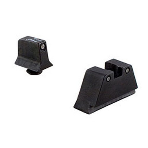 Trijicon Suppressor Black Outline Night Sight Set with Green Lamps for Glock Models (Best Trijicon Rmr For Glock 19)