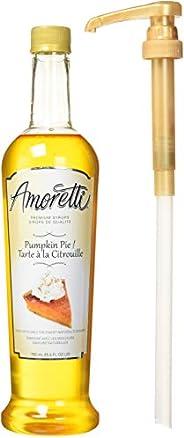 Amoretti Premium Pumpkin Pie Syrup, 25.4 Fluid Ounce, 3 Count