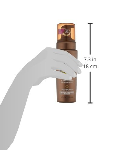 Jergens Natural Glow Instant Sun Sunless Tanning Mousse for Body, Deep Bronze, 6 Ounces by Jergens (Image #4)