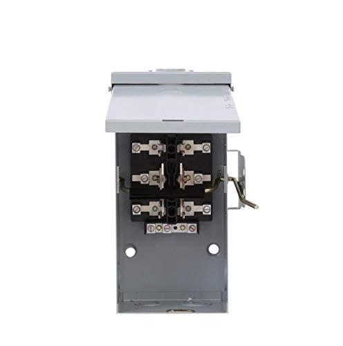 (TC10323R 100 AMP Single Phase 240 Volt Outdoor NEMA 3R Generator Emergency Manual Transfer Switch ON Off ON)