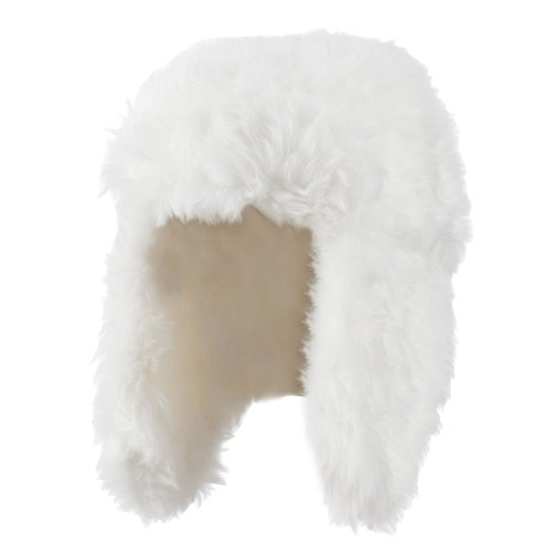 Faux Fur Color Trooper Hat - Ivory OSFM
