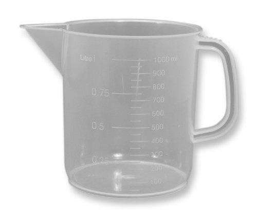 Frey Scientific Polypropylene Beaker with Handle, 1000mL Capacity, (Beaker English Mug)