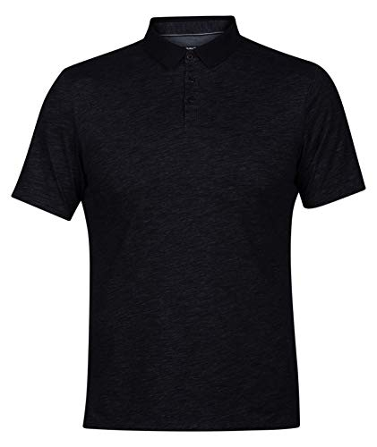 (Hurley Men's Nike Dri-Fit Short Sleeve Lagos Polo, Black,)