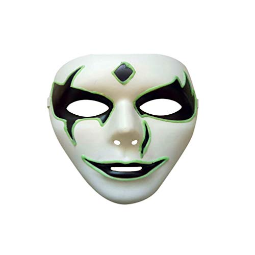 Mask, Botrong Luminous Mask Halloween Costume Party Mask Horror Skeleton Skull Full Face Mask (D) -