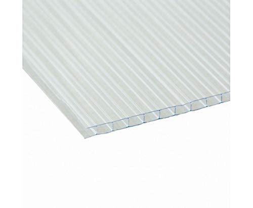Clear Translucent Fluted Plastic Board. 5 Sheets Sized to A1. 841x594x4mm by Vesey Gallery