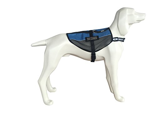 31rxiBGRQgL.01_SL500_ bingpet mesh reflective service dog vest cool comfort harness with 2