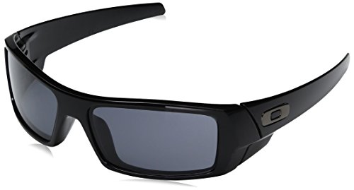 Oakley Men's GasCan Sunglasses,Polished Black Frame/Grey ...
