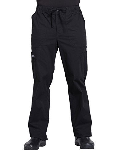 Cherokee Workwear Professionals WW190 Mens Tapered Leg Pant,Black,X-Large Short