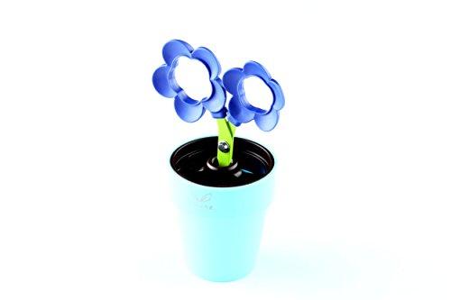 Japanese Imported Novelty Plant Flower Pot Stationery Pen Holder with Scissor | Cocone (FL-20V Violet Flower)